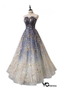 Votidress Long Prom Gown Formal Evening Gowns A line Evening Dress