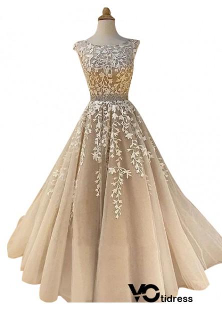 Votidress Sleeveless Long Prom Evening Dress