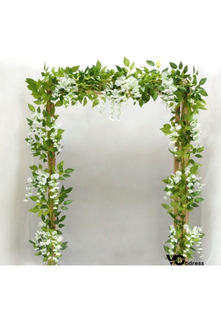 4pcs Home Wedding Decoration Simulation Floral Decor Wisteria Flower Rattan