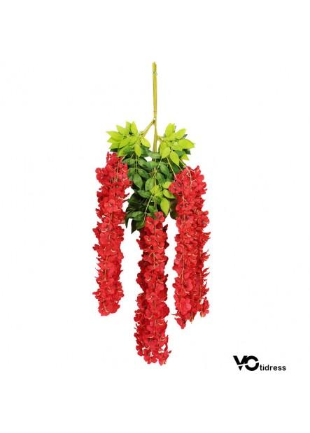 Simulation Of Wisteria String Artificial Hydrangea Flower Vine Wisteria Vines Cattleya Flowers Foral Decor