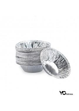 Round Aluminum Foil Portuguese Egg Tart Bottom Support 100PCS