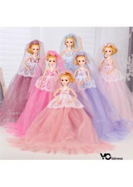 White Leaf Wedding Dress Barbie 40CM