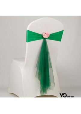 3PCS Chair Cover Back Flower Back Cover Decoration Wedding Probably 40*12*50CM