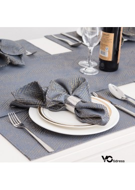 2pcs Western Napkin Napkin Cloth Folded Flower