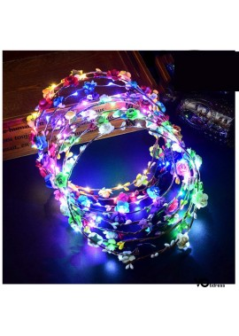 5PCS Ten Lights Luminous Garland Headband 7.4inch