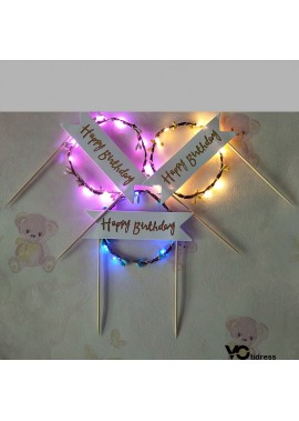 Cake Decoration Romantic Light Rattan Garland