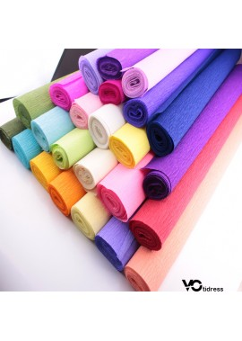 3PCS Crepe Paper Monochrome Curling Paper Each Roll Is 50CM Wide And 250CM Long