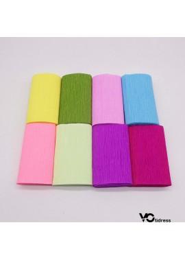 3PCS 10CM Curled Crepe Paper 10*250CM (Width*Length) 1 Roll Bag