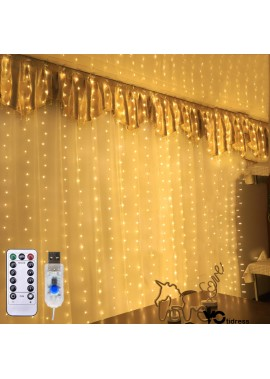 3*3 Meters 300 Lights Copper Wire Lights Curtain Lights