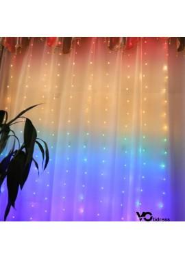 Rainbow Copper Wire Lamp Curtain Lamp 1.5*2M