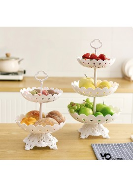 Fashion Two Layers Fruit Plate Home Deep Caliber Plate Fruit Plate Small Plate 18.5CM Middle Plate 22.0CM Height 32CM