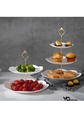 European Three-Layer Dessert tray Dessert Table 24*37CM