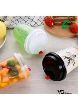 100 Disposable Milk Tea Transparent Cups