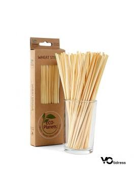 100PCS Creative New Disposable Straw 20cm Wheat Straw