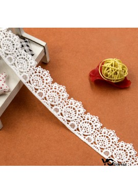 15pcs New Water Soluble Milk Silk Embroidery Barcode Lace