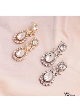 Classic Earrings Alloy Diamond Earrings Size 2*4.5CM