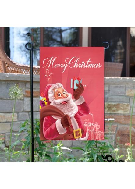 10PCS Home Garden Flagpole Christmas Halloween Single-Sided Flag 95*45CM