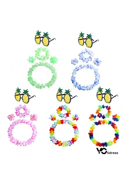 Party Pineapple Glasses Dress Up Set Classic garland set of 4