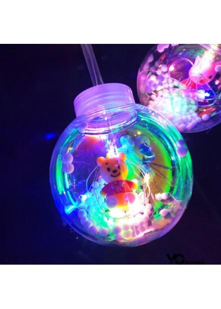 10PCS Sets Of LED Luminous Balloons 20 Inch Round Ball
