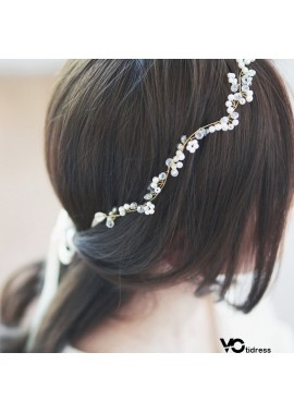 Handmade Crystal Beaded Bridal Wedding Headdress Hair Band Two Centimeters Hair Band Seven Centimeters