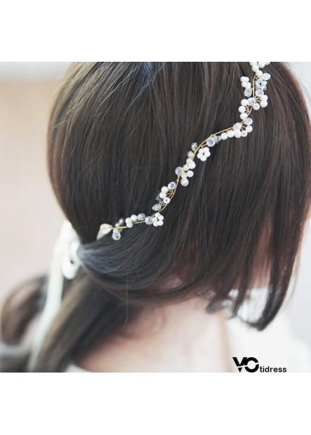 Handmade Crystal Beaded Bridal Wedding Headdress Hair Band Two Centimeters Hair Band Seven Centimeters