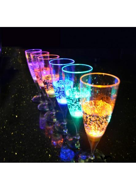 6PCS Harmless Wine Glass Champagne Glass Led 150ML