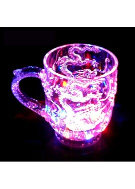 6PCS Luminous Cup LED Flash Cup Will Brighten With Water 285ML Diameter 8CM* 9.7CM In Height Bottom 5.5CM