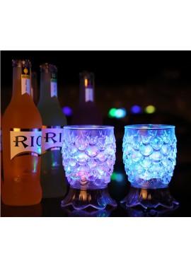 6PCS Luminous Cup Induction Cold Light Cup Pineapple Cup: 8.7*7CM