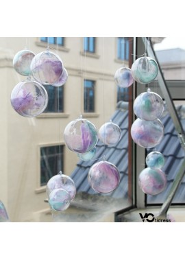 10PCS Transparent Plastic Ball Hollow Ball Hanging Ball Ornament 4CM