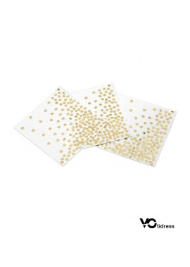 5 Sets Of 250PCS Disposable Polka Dot Paper Towel Party Supplies 33*33CM