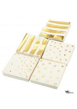 2 Sets Of Disposable Party Tissues 33*33CM