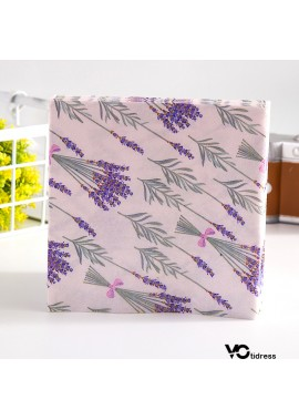 3 Sets Of  60PCS Lavender Printed Napkins And Facial Tissues 33*33CM