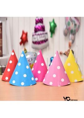 5PCS Cute Party Paper Hat Decorations 20*13CM