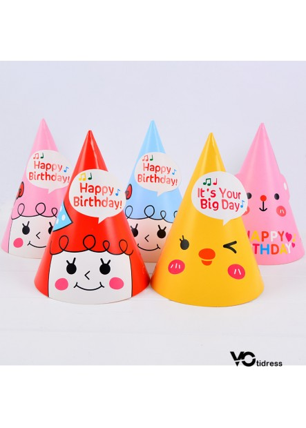 50PCS Party Birthday Cake Hats Height About 20CM, Bottom Diameter 15CM