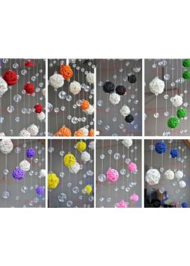 3pcs Strings Of 80 cm Spherical Multicolor Decorative Ribbons