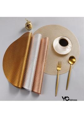 6PCS Nordic Anti-Scalding And Heat-Insulating Table Mat Diameter 38CM