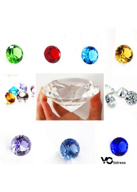 500pcs 25MM Crystal Diamond Artificial Transparent Glass Diamond
