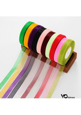 2 Rolls Of 1.5cm Chiffon Ribbon 1.5CM Width About 45 Meters/Roll