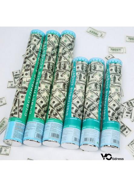 2PCS Party Wedding Supplies Dollar Salute Knot Wedding Salute Tube  Length 30CM
