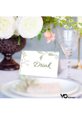 10PCS Wedding Personalized Name Card 6*9CM After Folding