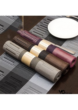 Table Banner Hotel Western Place Mat Insulation Bamboo Table Mat