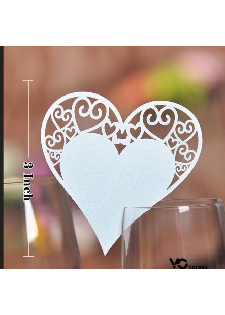 50PCS 3Inchs Creative Hollow Wedding Table Card
