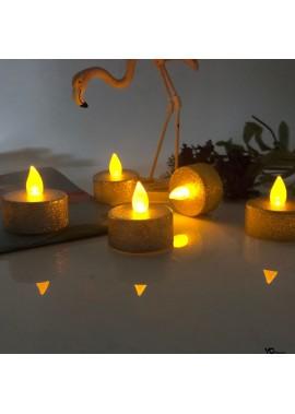 12PCS Powdered Candle Tea Light Simulation LED Candle Light 38*37MM