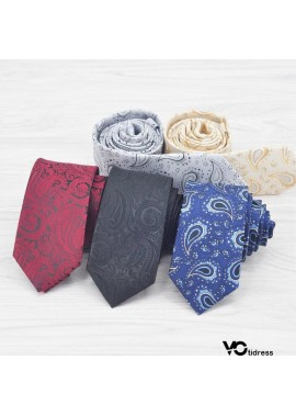 5PCS Polyester Woven Neckties For Men 8CM Wide And 145CM Long