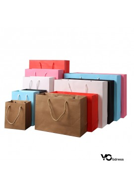10PCS Paper Bags Environmental Protection Paper Bags Clothing Paper Bags 10*6*12CM