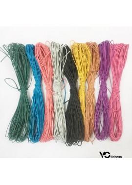 9 Colors 1 mm Colored Hemp Wax Line 100 Meters Long