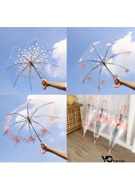 8PCS Stylish Flower Cartoon Transparent Umbrellas 92*53*72CM