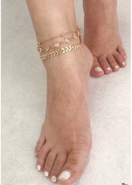 Crystal Footwear Anklets