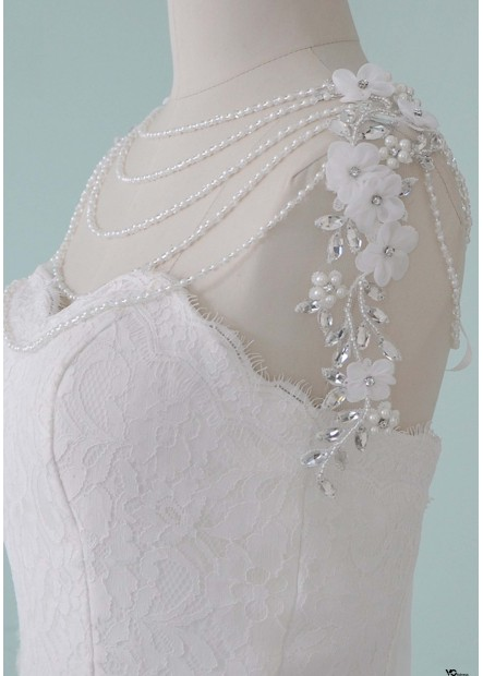 Crystal Pearl Shoulder Chains