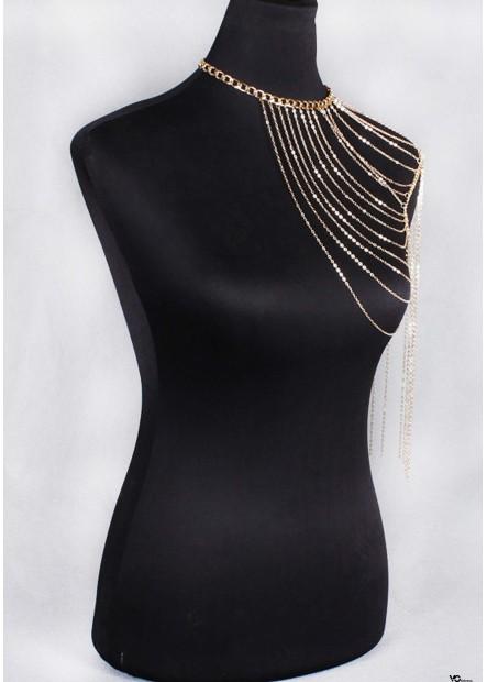 Golden Tassel Body Chains